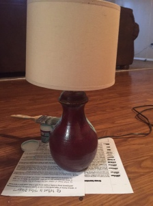 Original lamp given to me by my boyfriend.